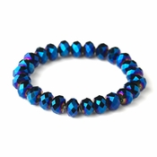 Royal Blue 10mm Stretch Bracelet 7613