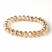 * Topaz 10mm Stretch Bracelet 7613