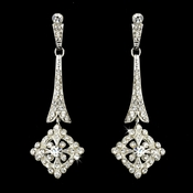 Silver Clear Vintage CZ Earring Set 3540