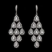 Silver Clear Earring Set 6662
