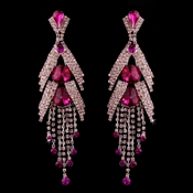 Silver Pink Earring Set 1059