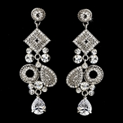 Silver Clear Earring Set 1062