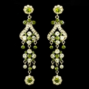 Gold Green Earring Set 1033