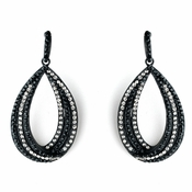 Black Clear on Black Earring Set 1058