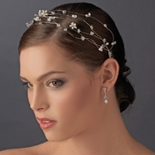 * Headpiece 6468 Silver Ivory