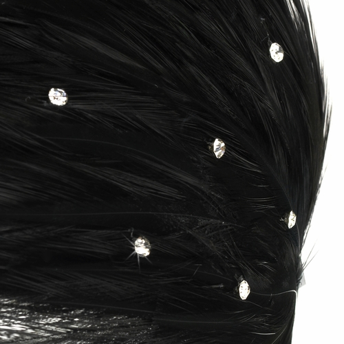 Black Feather Headband Headpiece 4018