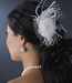 Feather Fascinator with Russian Veiling Accent Comb 8211