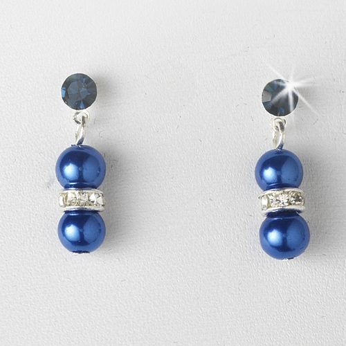 Necklace Earring Set 206 Silver Blue