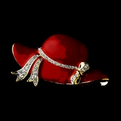 * Red Hat Society Gold with Rhiestones Brooch 123 ***7 Left***