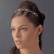 * Crystal Flower Swirl Bridal Headband HP 8224 ***6 Left***