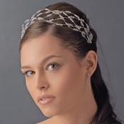 Charming Silver Clear Austrian Crystal Bead Headband 8363
