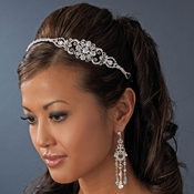 Silver Plated Bridal Headband HP 8253