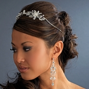* Crystal Bridal Headband with Side Accent HP 8222