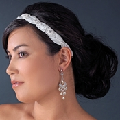 * Crystal and Rhinestone Bridal Headband HP 8122