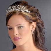 Silver Clear Headband Headpiece 9785