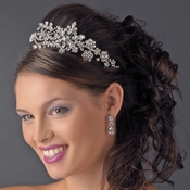 Headpiece 9998 Silver White