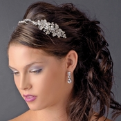 Rhodium Ivory Clear Headpiece 9797
