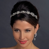 Vintage Bridal Headband with Pearls & crystals HP 9987