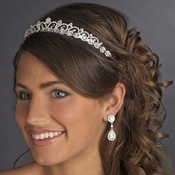 * Silver Plated Bridal Tiara HP 6248