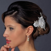 * Rhinestone & Crystal Bead Flower Bridal Hair Clip 2530