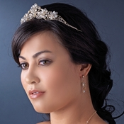 Crystal Couture Pearl Bridal Tiara HP 2596 Silver or Gold