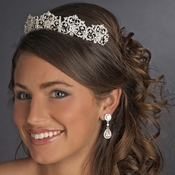 Beautiful Royal Bridal Tiara HP 630 Silver