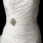 Wedding Sash Bridal Belt with Vintage Crystal Brooch 14