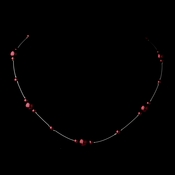 Silver Burgundy Pearl Illusion Necklace 8601