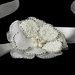 Belt with Silver Ivory Beaded Flower Pearl Brooch 41
