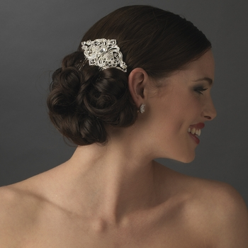 royal silver vintage rhinestone bridal hair b b 8356