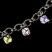 Rhodium Multi Color w/ Gold Chain Links B 2700