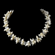 Cream Colored Freshwater Keshi Pearl Necklace 8521