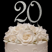 Completely Covered ~ Swarovski Crystal Wedding Cake Toppers ~ Numbers