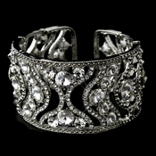 Antique Silver Cuff Bangle Bracelet 900