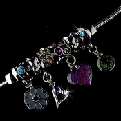 * Multi Color Charm Bracelet 8508