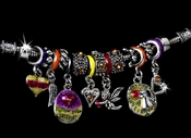 Inspirational Charm Bracelet B 1008 Yellow
