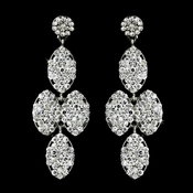 * Silver Clear Earring Set 8541
