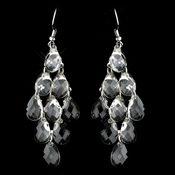 Silver Clear Earrings 21773