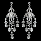 Vintage Silver Chandelier Earrings E 7595