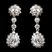 Silver Clear CZ Earring  Kate Middleton Inspired Earrings 5560