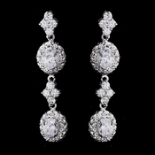 Silver Clear CZ Earrings 1302