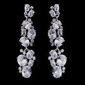 Silver Clear CZ Earrings 1301