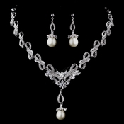 Pearl & CZ Jewelry Set 8613