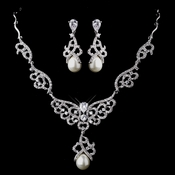 Pearl & CZ Jewelry Set 8610