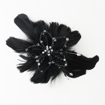 Black Clip 1531 with Additional Brooch Pin Component