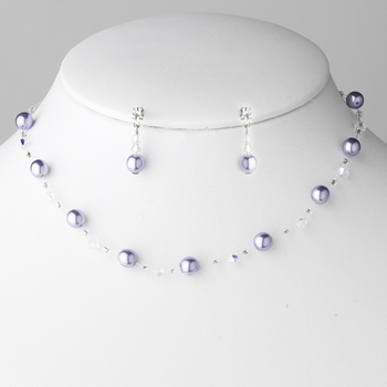 * Necklace Earring Set 207 Berry ***Discontinued***