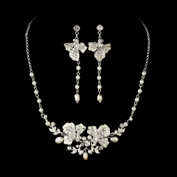Necklace Earring Freshwater Pearl Jewelry Set NE 7803