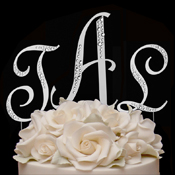 Sparkle ~ Crystal Accented Cake Topper