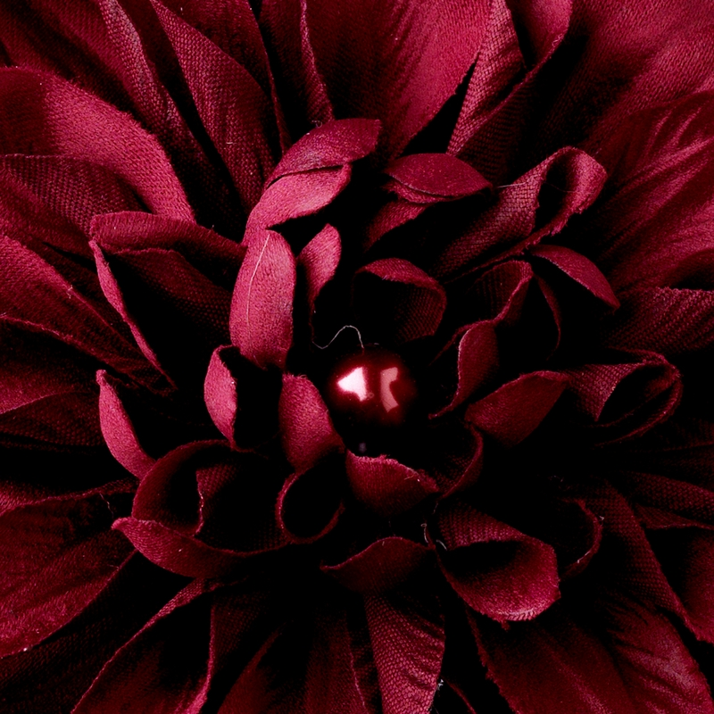 Striking Maroon Flower Hair Clip Or Clip Brooch 402