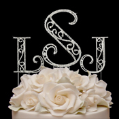 Roman ~ Swarovski Crystal Wedding Cake Toppers